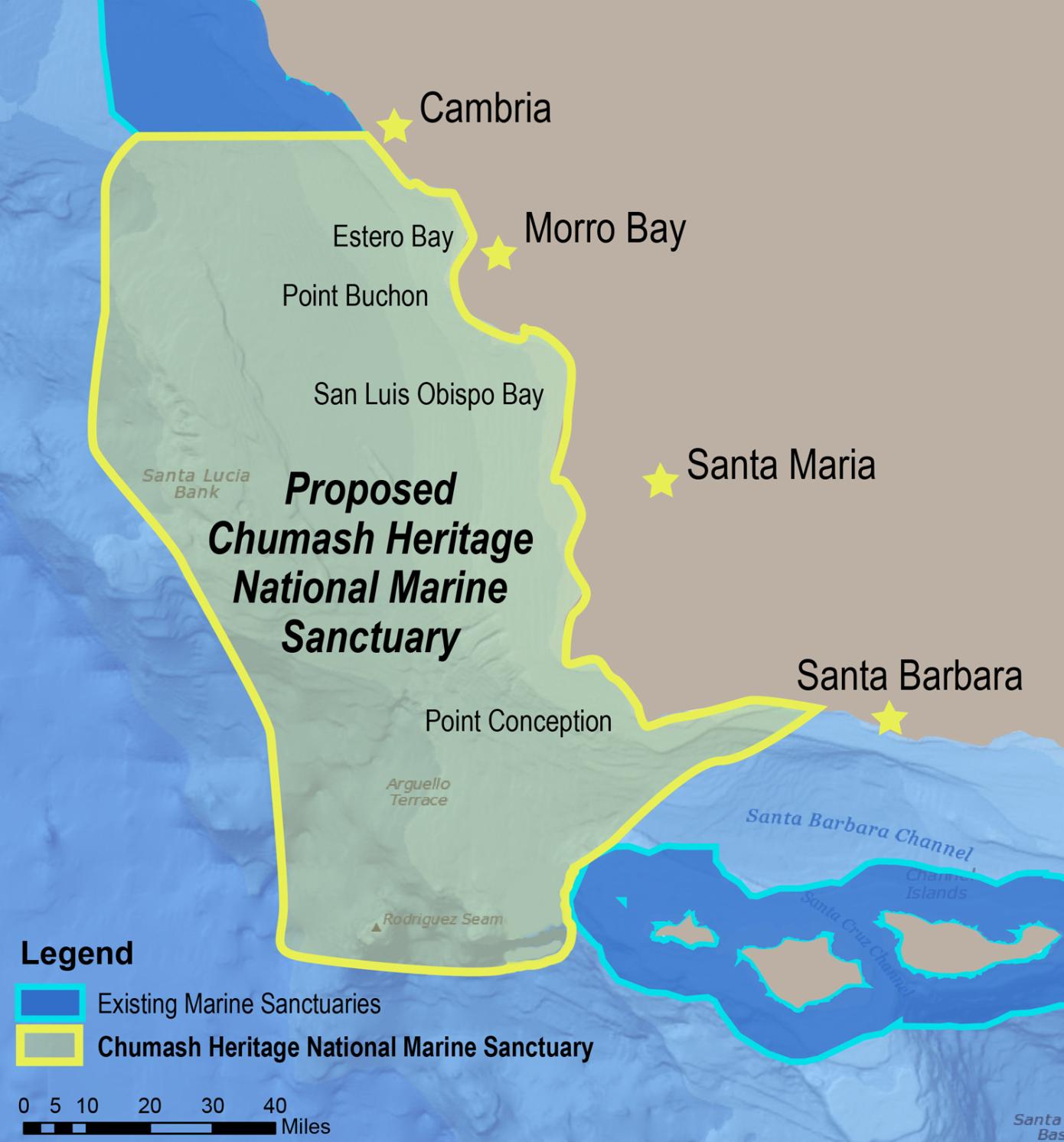 Chumash Heritage National Marine Sanctuary Map