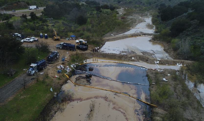 6,600 gallons of crude oil spilled from a tanker truck accident on HWY 166 spilling into the Cuyama River