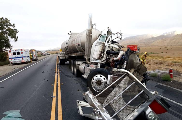 On September 13, 2016, an oil tanker accident occurred on Hwy 166 involving multiple vehicles and spilling 150-200 gallons on fuel.